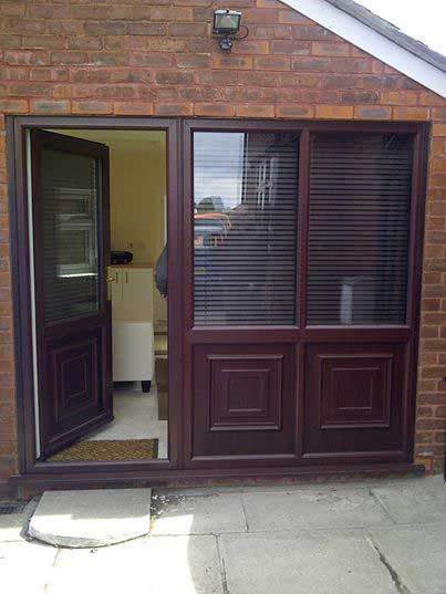 Great Combination Entrance Door With Side Glazed Panels Over Upvc Panels